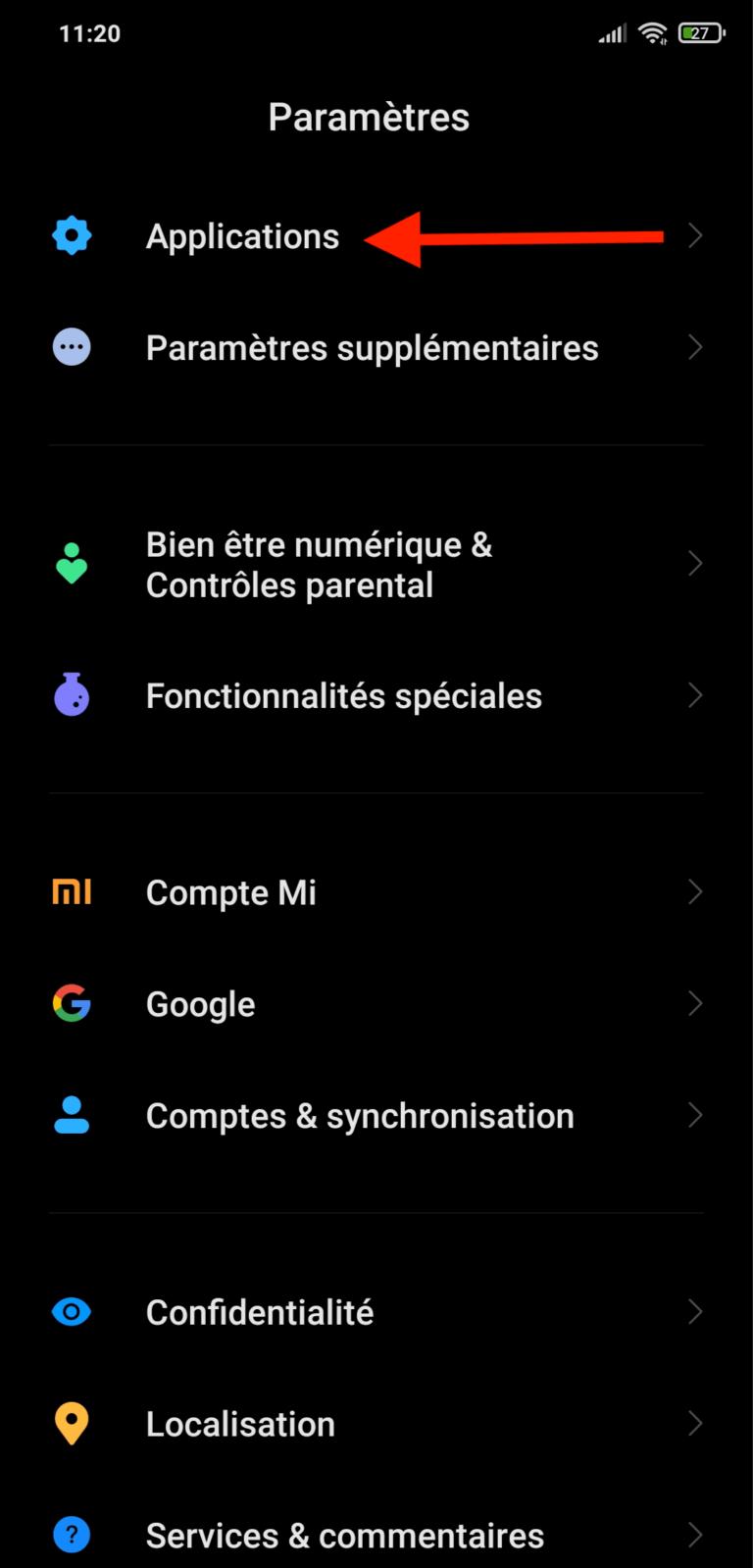 Comment changer l'application mail téléphone Android Moovago, application commerciaux, CRM, ERP, PGI, GRC