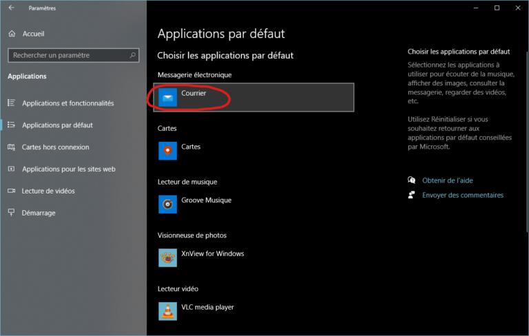 Comment changer l'application mail par défaut windows 10 Moovago, application commerciaux, CRM, ERP, PGI, GRC