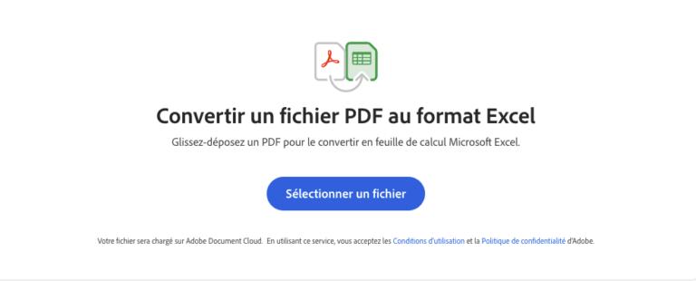 Convertir un fichier PDF en Excel Moovago, application commerciaux, CRM, ERP, PGI, GRC
