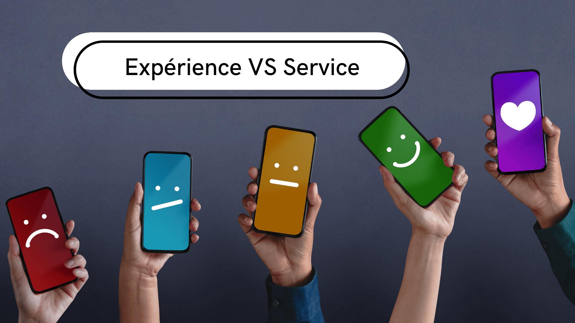 différences entre l'expérience client et le service client